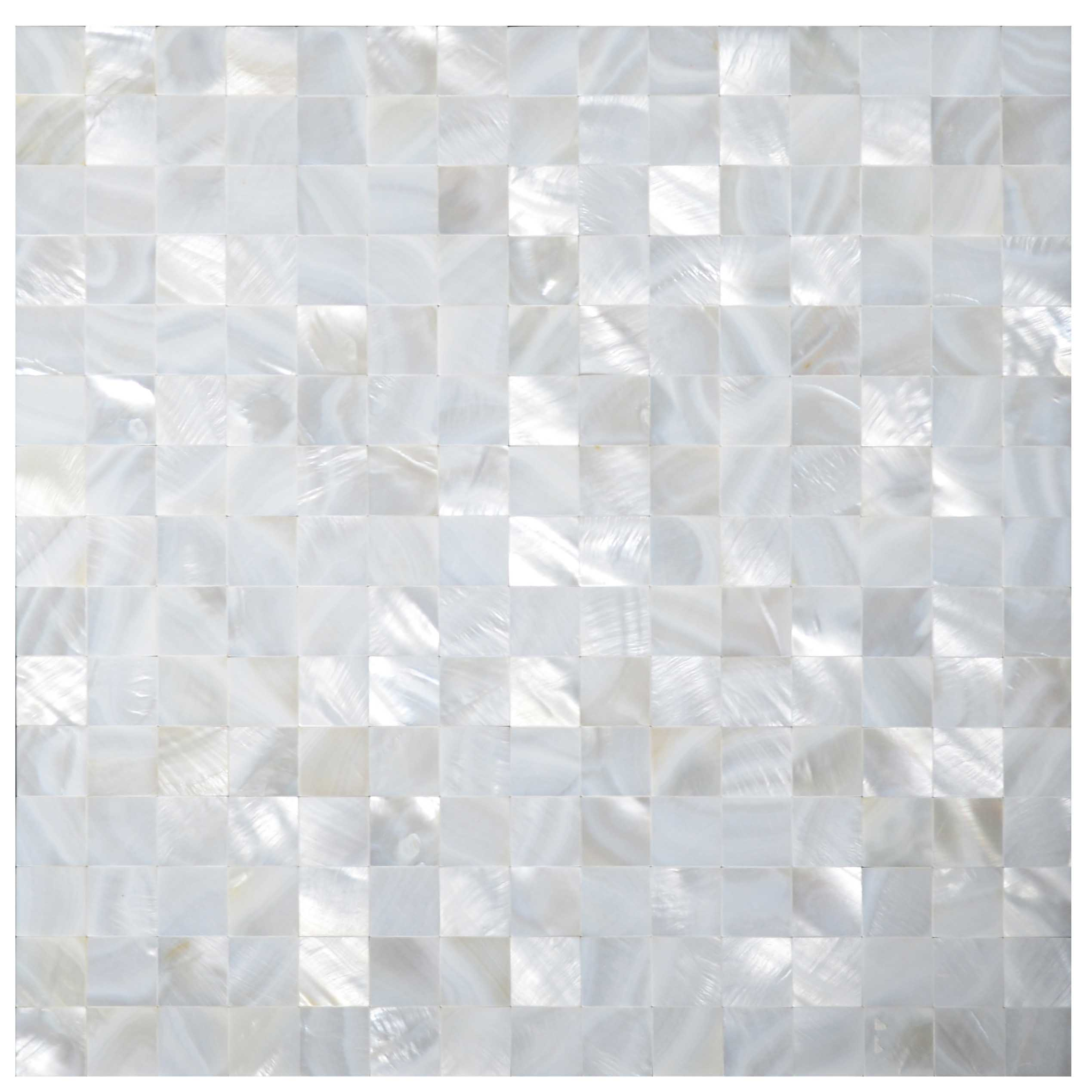 Groutless Accent Tile Wall: Seamless Square Groutless Mother Of Pearl Tiles Backsplash