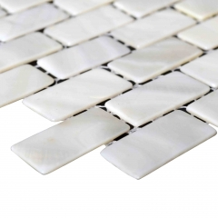 Mini Brick Mother of Pearl Tiles Backsplash for Kitchen and Bathroom wall MPT02