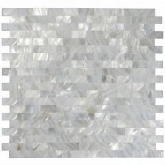 Pearlized Subway Groutless Mother of Pearl Tiles Backsplash for Kitchen and Bathroom Wall MPT05