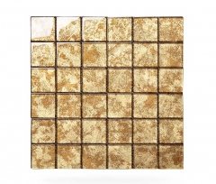 Decorative Glass Mosaic Tile Sheets With Gold Effect for Bathroom Backsplash CGT7