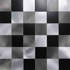 Black White Chessboard Peel and Stick Backsplash Tile SOT1010