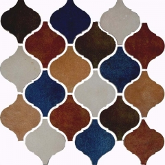 Vintage Arabesque Porcelain Tile in Multi Color for Wall CPT117