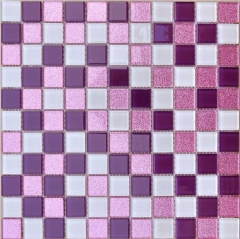 Purple & Pink Glass Mosaic Tile for Backsplash and Wall CGT024
