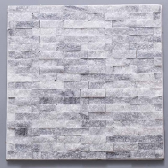 Grey stacked stone mosaic wall tile MST06