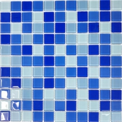 12x12 Blue Swimming Pool Glass Mosaic Tile CGT025