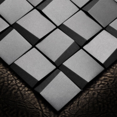 3D Black Stainless Steel Wall Tile SST01