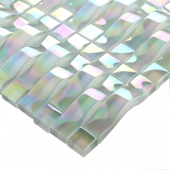 Arched Rainbow Glass Mosaic Tile for Wall CGT04