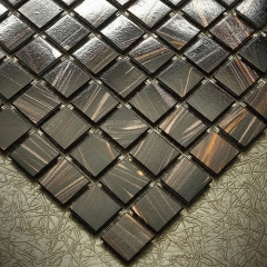 Discount Chocolate Glass Mosaic Tile Sheets for Bathroom and Kitchen CGT05
