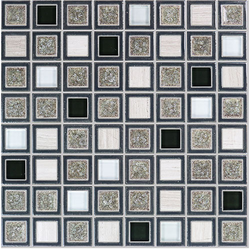 Antique Vintage Porcelain Stone Blending Glass Tile with Crackle Feature Backsplash Design PGST100
