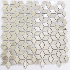 Mirror Stainless Steel Mosaic Tile in Rhombus Pattern Latest Kitchen Backsplash Ideas SST114