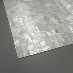 White Natural Mother of Pearl Shell Tile in Subway for Backsplash and Wall MPT14