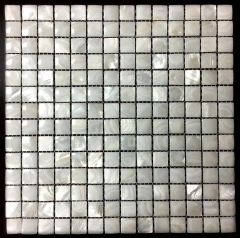 12x12 Mother of Pearl Square Tile in Arched for Kitchen and Bathroom Wall MPT10