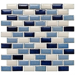 Sky Blue Porcelain Subway Tile Backsplash Wall Design for Kitchen and Bathroom CPT126