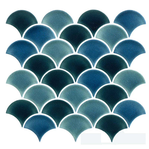 Modern Cobalt Blue Crackle Porcelain Tile Backsplash for Bathroom and Kitchen CPT128