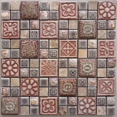 Antique Brown Rough Porcelain Tile in Square for Bathroom and Kitchen  CPT135