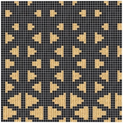 12x12 Mesh Mounded Black and Golden Glass Mosaic Tile Mixed Picture for Bathroom Wall and Kitchen Backsplash Tile TM104