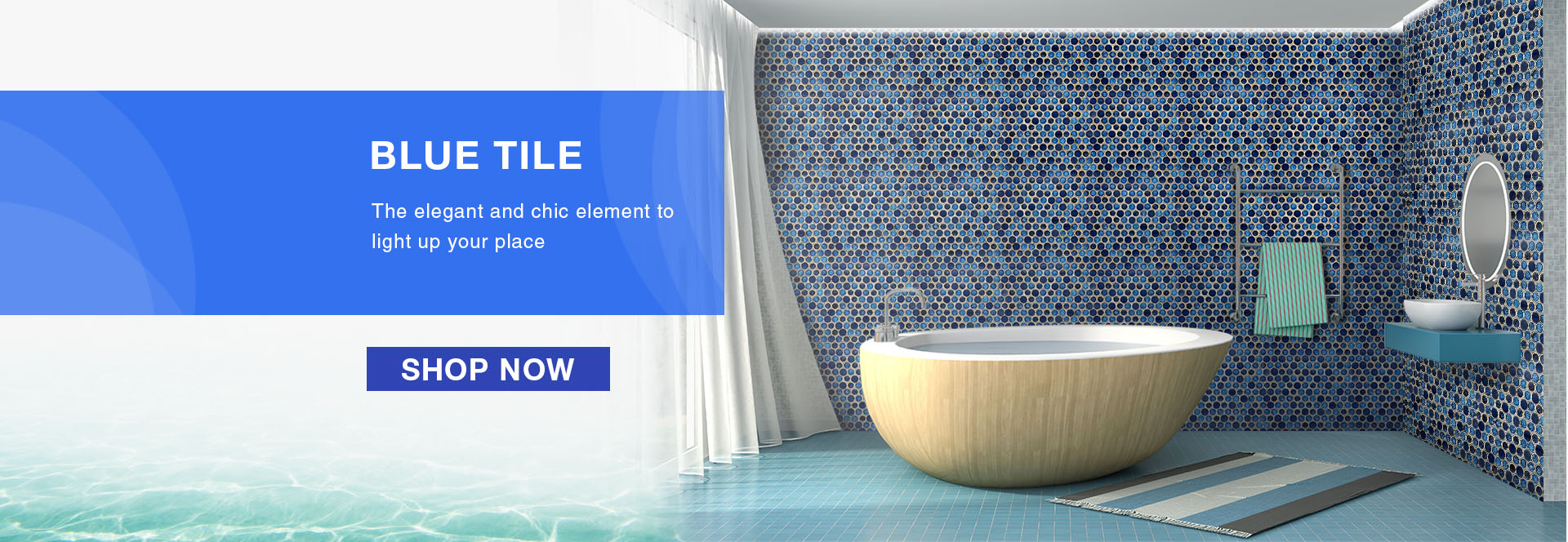 Chic Blue Tile collection