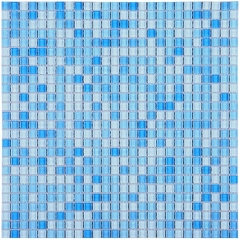 Sky Blue Square Glass Mosaic Tile Bathroom and Kitchen Backsplash Design  CGT056
