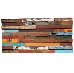 Colorful Reclaimed Wood Mosaic Tile for Backsplash and Wall BWT108